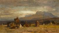 arab encampment by samuel colman