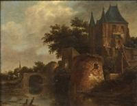 canal à l'entrée d'une ville by thomas heeremans