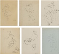 dessins erotiques (set of 6) by leonor fini
