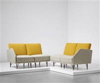 rare modular four-seater sofa set by finn juhl