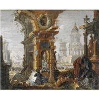 capriccio con rovine classiche, medievali e rinascimentali by pietro gaspari