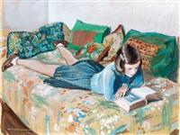 reading girl (szolnok) by istvan zador