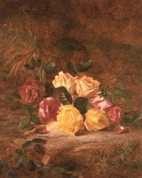 roses on a woodland floor by charles archer
