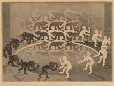 encounter by m c escher