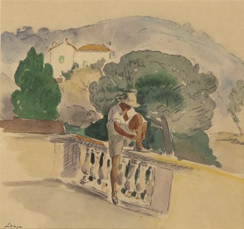 sur la terrasse by henri lebasque
