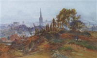 the city of norwich from mousehold common by charles earle