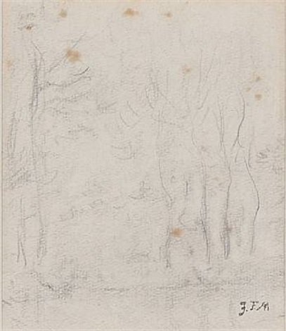 landscape with tall slender trees by jean françois millet
