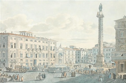 vue de la place de lobélisque à catane by louis jean desprez
