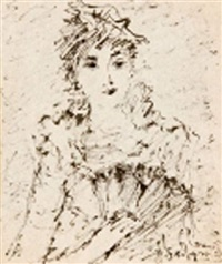 portrait de femme by michail ksenofontovich sokolov