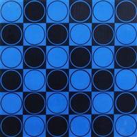 cuadrado azul y negro by antonio asis