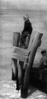 enfants jouant à marée basse by édouard joseph dantan