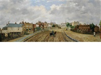 a view of highgate village from north hill by dean wolstenholme the younger