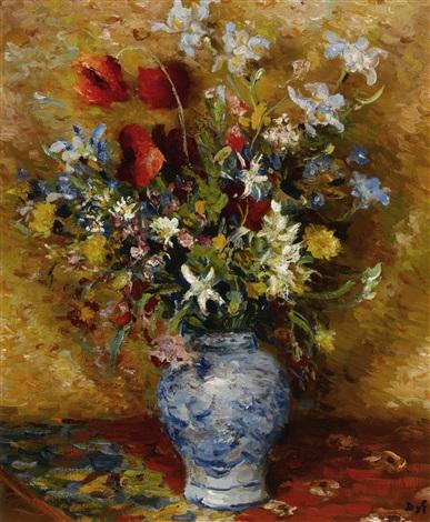 coquelicot et iris by marcel dyf