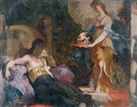 salomé et la tête de saint jean baptiste (+ 5 others; set of 6) by henri léopold lévy