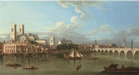 view of westminster from lambeth, across the river thames by samuel scott