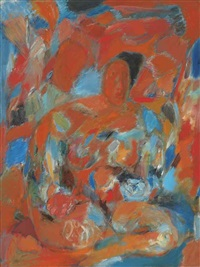 untitled (seated woman) by tyeb mehta
