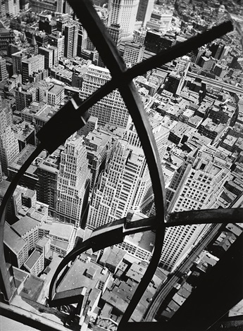 city arabesque (+ foundations of rockefeller center; 2 works) by berenice abbott