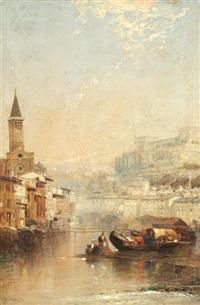 A view of Verona, 'Camogli - in the Riviera', a...