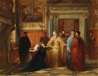 la demande en grâce, salle de l'anti-collegio au palais ducal à venise by edouard jean conrad hamman