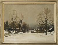 paysage sous la neige by albert saverys