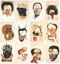 histology of the different classes of uterine tumors (in 12 parts, various sizes) by wangechi mutu