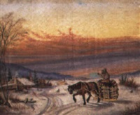 quebec winter landscape by s.s. macaulay