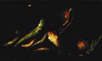 nature morte au bassin en cuivre et poissons by elena recco