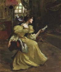 the artist's wife, louise by augustus koopman