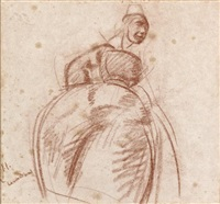 la danse, projet pour le plafond de l'opéra de rennes (study) by jean julien lemordant