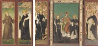 three male saints, an abbot saint, a male dominican saint by jacob rembold