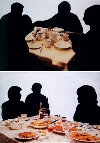 one and two groups dinning diptych by john baldessari