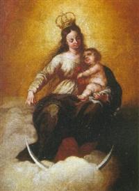 virgen con niño by matías arteaga y alfaro