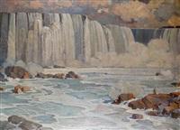 les chutes du niagara: les hoyeshoe falls by léon reni-mel