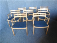 chairs (set of 8) by poul volther