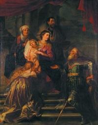 la sainte famille by kaspar (jasper) van den hoecke