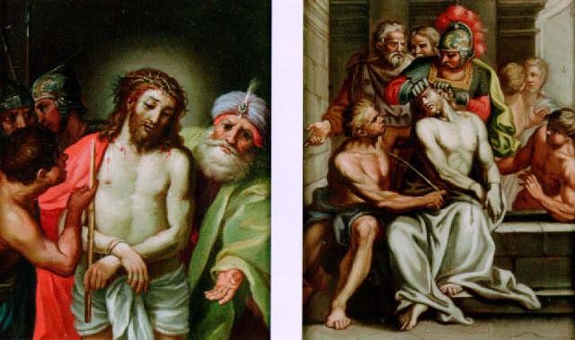 the mocking of christ by giuseppe salviati porta