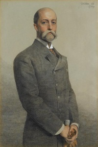 portrait of william gillilan by anthony frederick augustus sandys