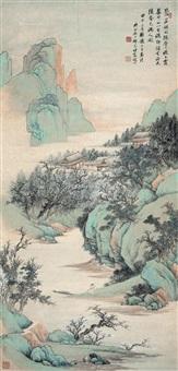 武陵春色 立轴 设色纸本 by qi kun