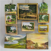 landscapes (10 works) by arthur e. ward