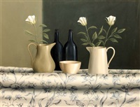 still life - flowers and vases by trudie mooney