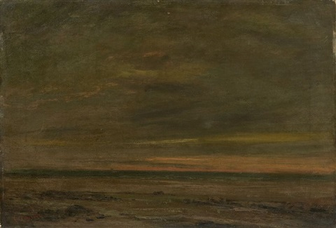 bord de mer by gustave courbet