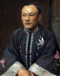 portrait of a chinaman by d. knupller