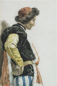 roman figure by ettore roesler franz