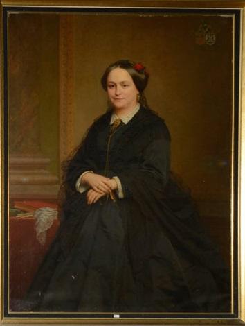 portrait dune dame de qualité de la famille cogels by nicaise de keyser