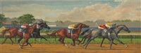down the back stretch, saratoga by jenness cortez