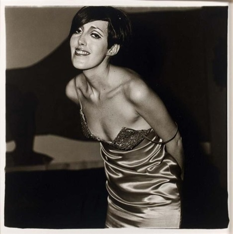 girl in a shinny dress nyc by diane arbus