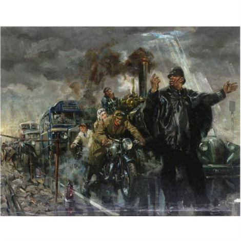 rush hour traffic by terence cuneo