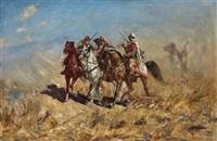 arabische reiter by heinrich maria staackmann