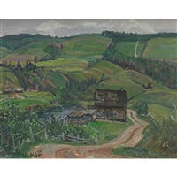 farm on gouffre river by frederick william hutchison