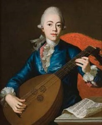 ritratto di giovane musicista con liuto by giuseppe baldrighi